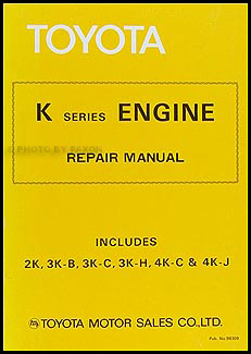 19681979 Toyota Corolla 3KC Engine Repair Shop Manual