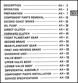 1996-2004 Toyota 4WD Auto Transmission Overhaul Manual
