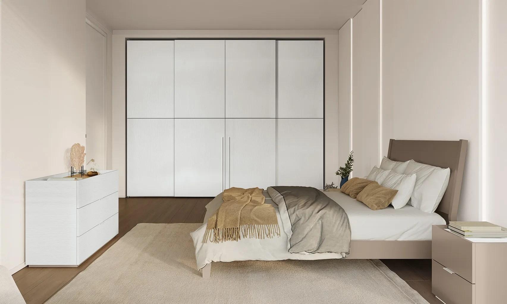 Letti imbottiti, di legno e di metallo con o senza contenitore. Camere Matrimoniali Complete Classiche O Moderne Febal Casa