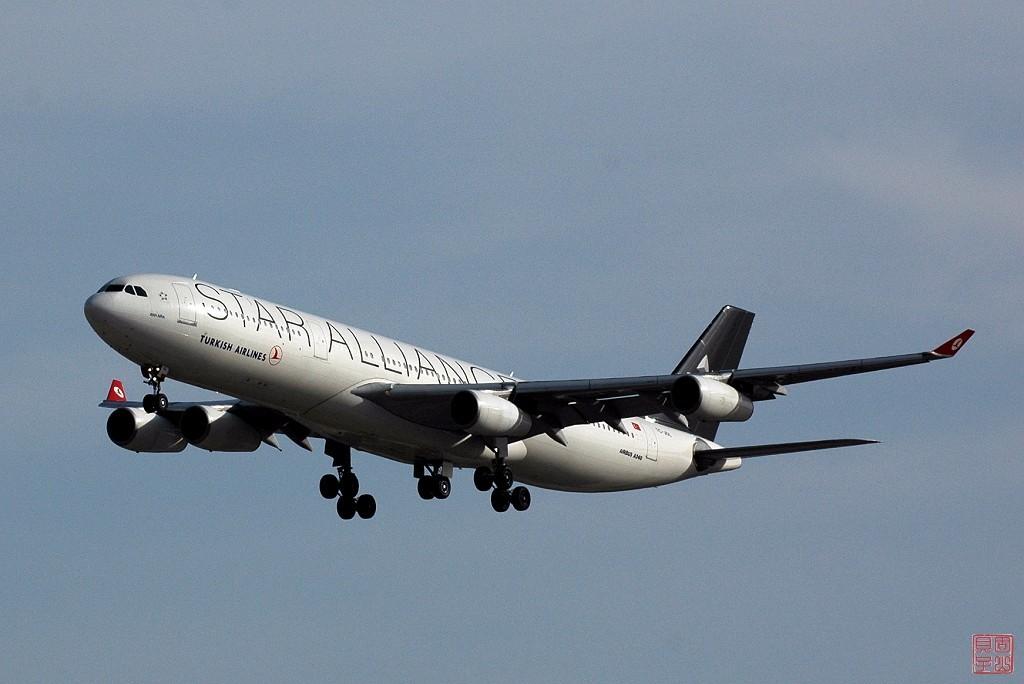 [原創]土耳其航空 A340-300 星空聯盟涂裝和國航777花機降落