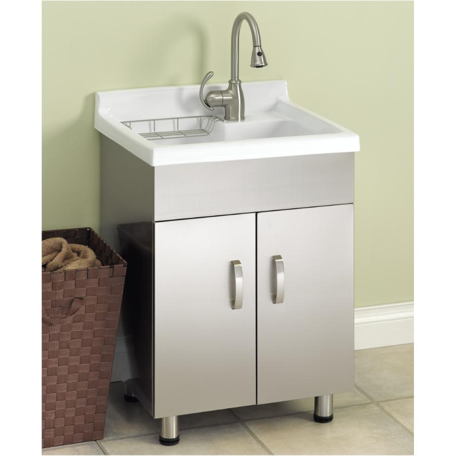 stainless steel laundry cabinet with