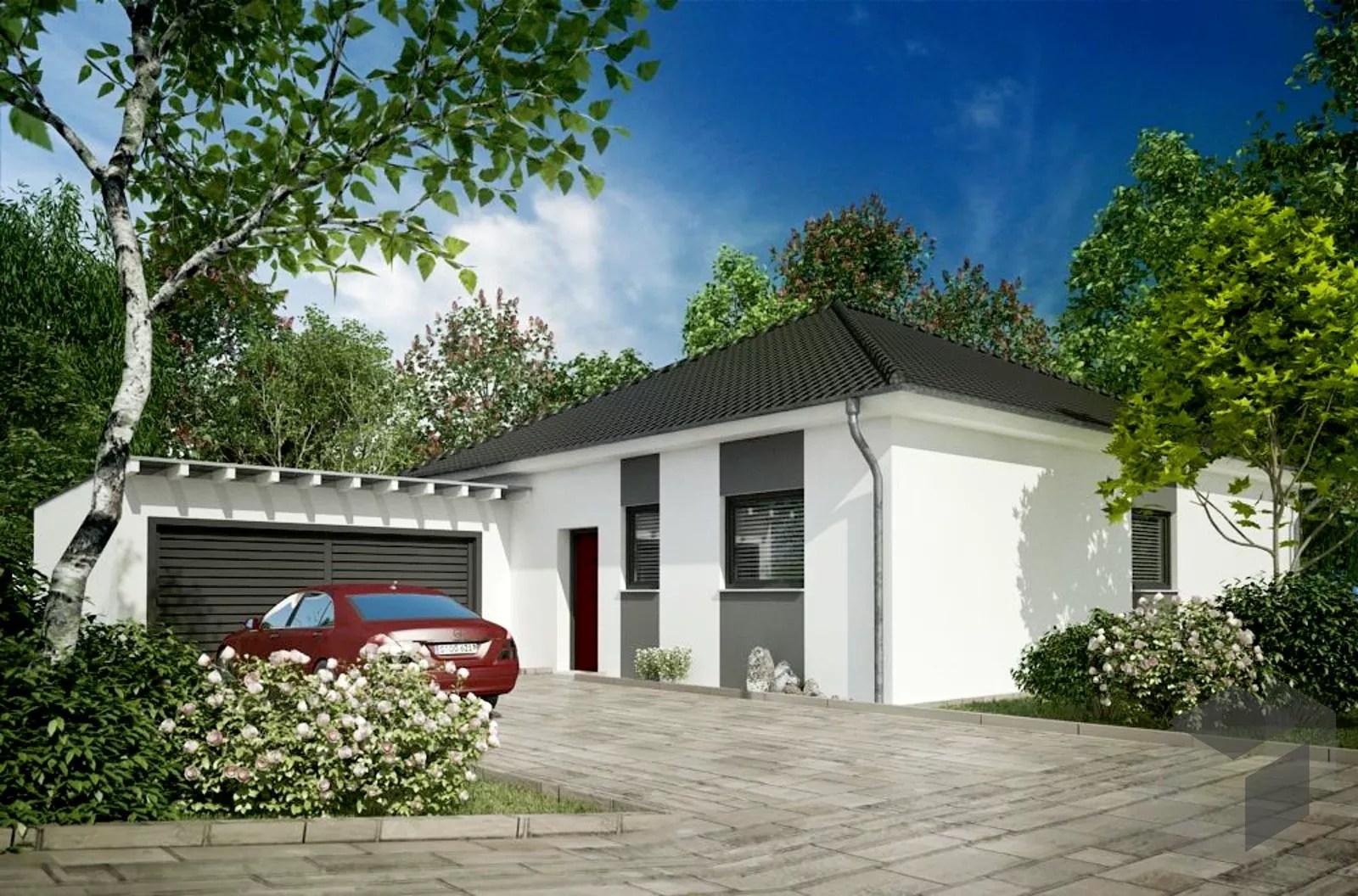 Bungalow Mit Doppelgarage Von Siegerland Massivhaus