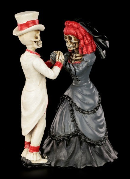 Skelett Brautpaar  Devoted to you  wwwfigurenshopde
