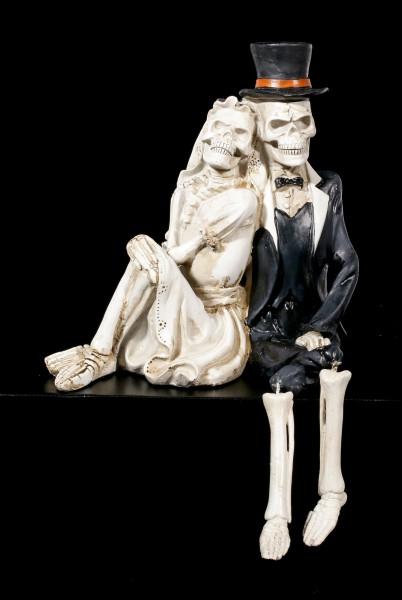 Skelett Kantenhocker  Love never Dies  wwwfigurenshopde