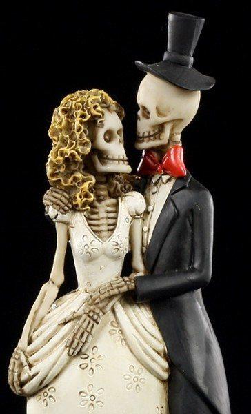 Skelett Figur  Brautpaar  Bis der Tod uns scheidet  klein  wwwfigurenshopde
