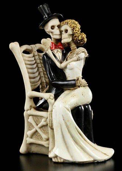 Brautpaar Figuren Skelett