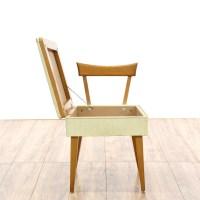 Mid Century Sewing Chair w/ Storage | Loveseat Vintage ...