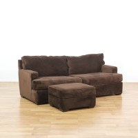 Brown Upholstered Contemporary Loveseat Sofa | Loveseat ...
