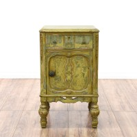 Shabby Chic Distressed Green Nightstand | Loveseat Vintage ...