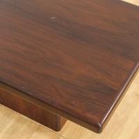 Mid Century Wooden Block Base Coffee Table | Loveseat ...