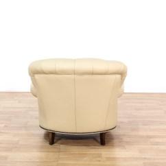Cream Club Chair Cover Hire Heathrow Fantastic Leather Button Tufted