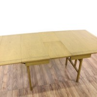 Mid Century Modern Green Drop Leaf Dining Table | Loveseat ...