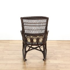 Black Rattan Chair Wood Rocking Chairs For Porch Wicker Cane Seat Loveseat