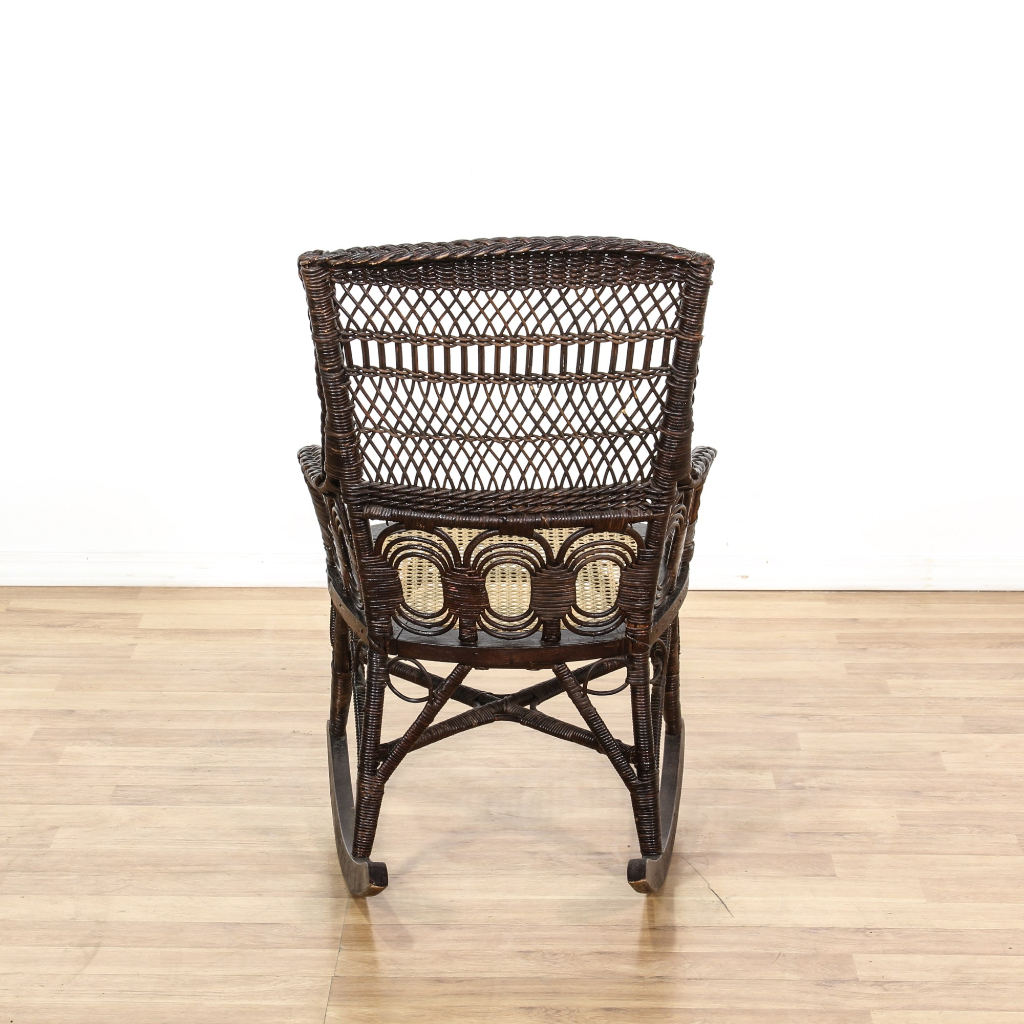 Black Wicker Rocking Chairs