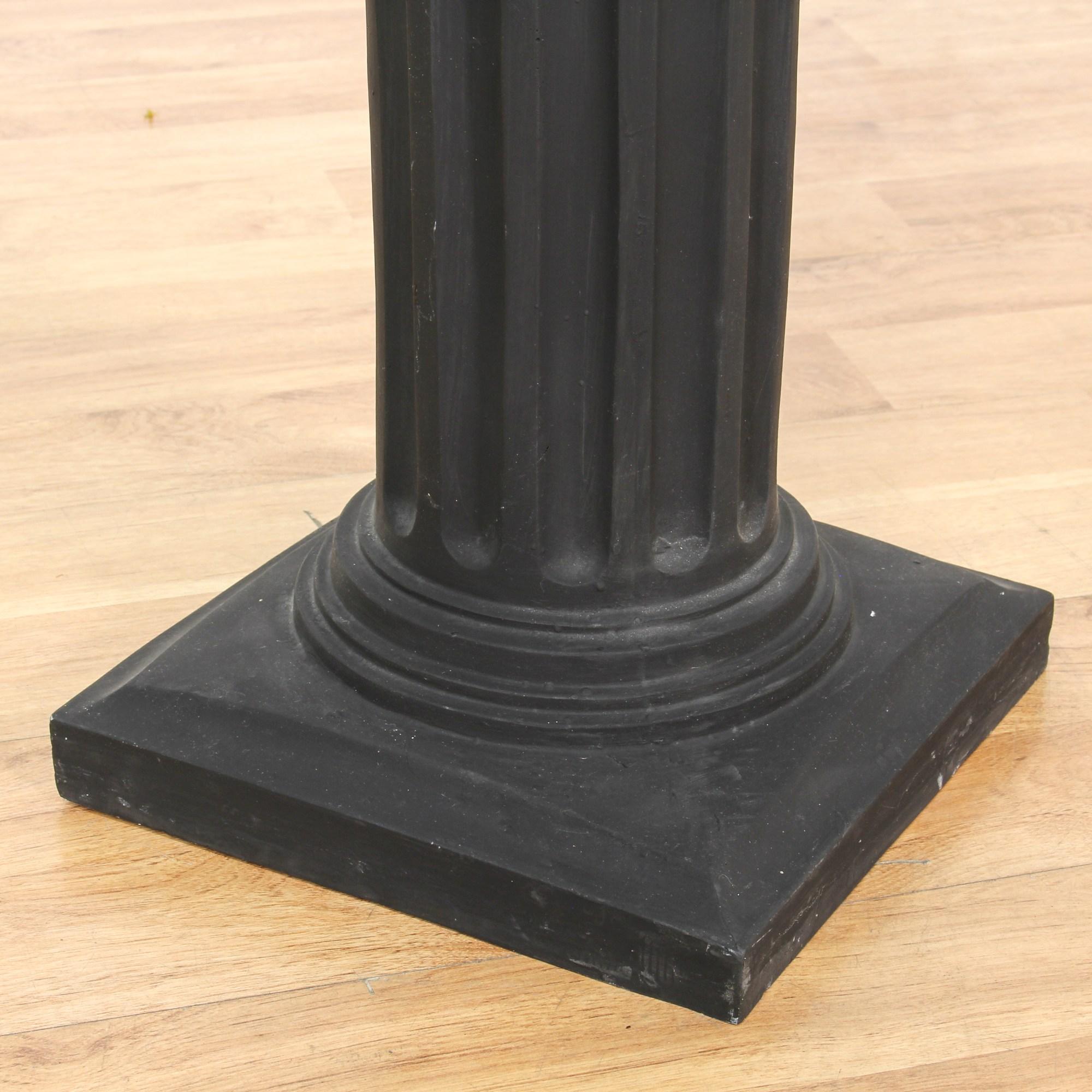 Black Ionic Column Pedestal Plant Stand Loveseat Vintage