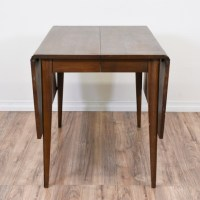 Mid Century Modern Walnut Drop Leaf Dining Table ...