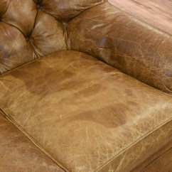 Vine Brown Leather Tufted Sofa Best Bed Under 2000 Distressed Club Loveseat