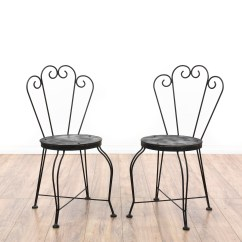 Black Metal Outdoor Chairs Chair Book Stand Pair Of Cafe Loveseat Vintage