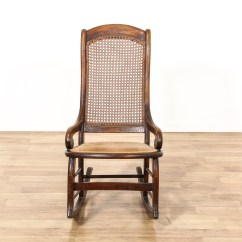 Rocking Chair Cane Portable Baby High Seat Back Loveseat Vintage Furniture San