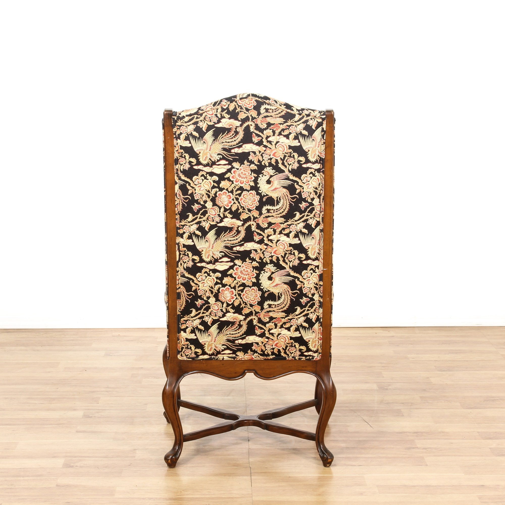 Floral Wingback Chair Tall Walnut Floral Wingback Accent Chair Loveseat
