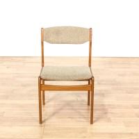 Mid Century Modern Wood Frame Beige Woven Chair | Loveseat ...