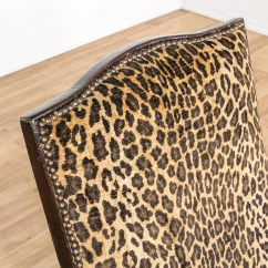 Leopard Print Accent Chair Massage Review Carved Wood Loveseat Vintage