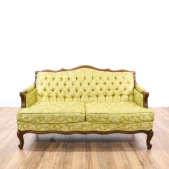 Green Floral Sofa Teal Corner Dfs Yellow Tufted Loveseat