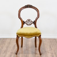 Set of 4 Carved Balloon Back Chairs | Loveseat Vintage ...