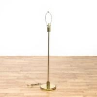 Brass and Glass Tube Floor Lamp