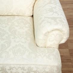 Damask Sofa Bed Small For Childrens Bedroom Brocade White 2 Loveseat Vintage Furniture