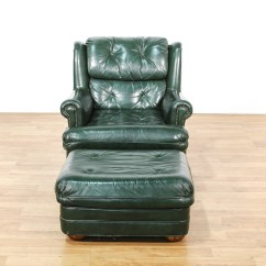 Dark Green Recliner Chair Swing Warehouse Leather Upholstered And Ottoman Loveseat