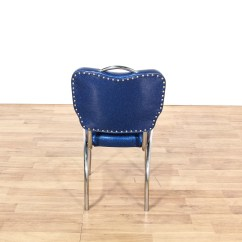Retro Chrome Chairs Blue Vallarta Dinette Set W 4 Vinyl Loveseat