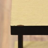 Mid Century Modern Black Wood Laminate Bookshelf ...