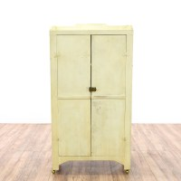 Shabby White Small Armoire Wardrobe | Loveseat Vintage ...