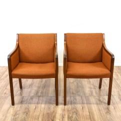 Wh Gunlocke Chair And Ottoman Slipcovers Pottery Barn Pair Of Quotgunlocke Quot Mid Century Modern Armchairs Loveseat