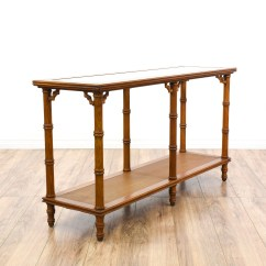 Legare Bamboo Sofa Table Cavendish 3 Seater Futon Bed Tropical Carved Faux Console Loveseat