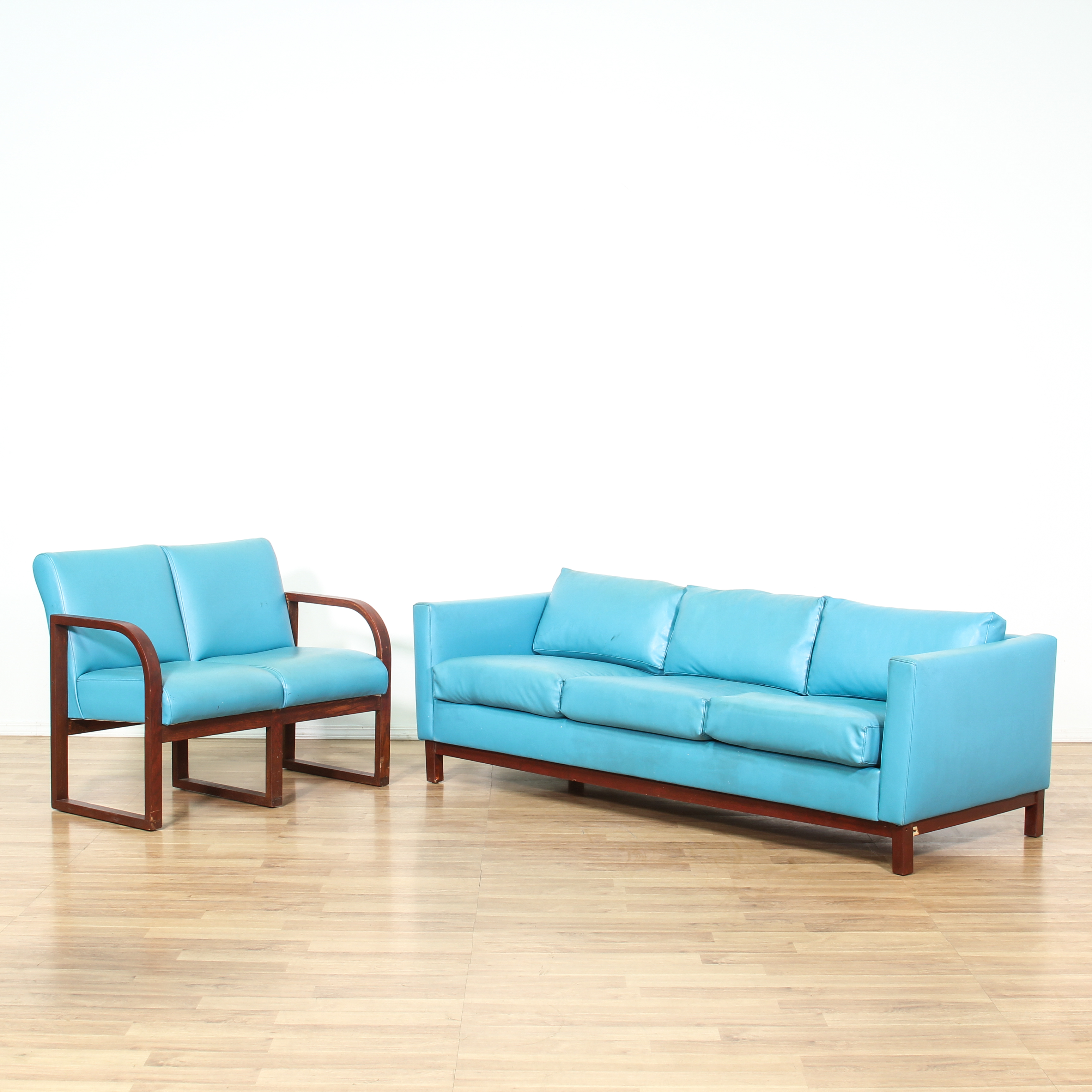 vinyl sectional sofa black bed with storage mid century modern blue and double chair