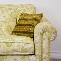 Green Floral Sofa Settee Storage Box Long Beige And Paisley Print Loveseat