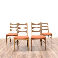 Set of 4 Bow Tie Ladder Back Dining Chairs | Loveseat ...
