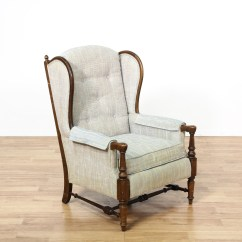 Ethan Allen Wingback Chairs Folding Chair Dunelm Quotethan Quot Blue Upholstered Armchair