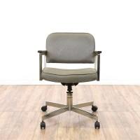 Mid Century Modern Chrome Office Swivel Chair