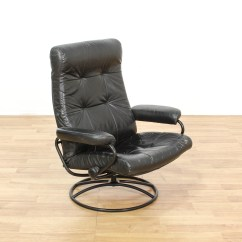 Black Leather Swivel Lounge Chair Hanging Egg Chairs Canada Contemporary Loveseat