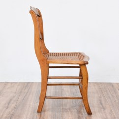 Ladder Back Cane Seat Dining Chairs Rattan For Sale Curved Wood Chair W Caning Loveseat Vintage