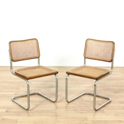 Cesca Chair Replacement Seats Uk Table Top High Pair Of Marcel Breuer Style Italian Chairs