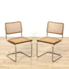 Modern Aluminum Chair Leather Executive Office Chairs Canada Pair Of Marcel Breuer Cesca Style Italian