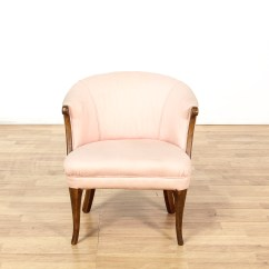Old Wooden Barrel Chairs Fixing Wicker Pink Upholstered Wood Frame Back Chair Loveseat