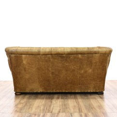 Vine Brown Leather Tufted Sofa Buy Cushions Online India Distressed Club 2 Loveseat