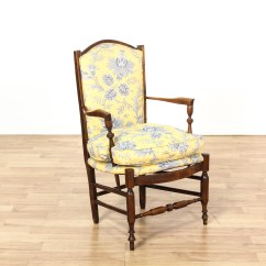 Yellow Upholstered Accent Chair Covers For Chairs Without Arms Carved Walnut Floral Cushion