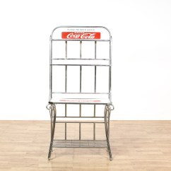 Coca Cola Chairs And Tables Faux Leather Dining Room Quotcoca Quot Chrome Tiered Bookshelf Rack Loveseat