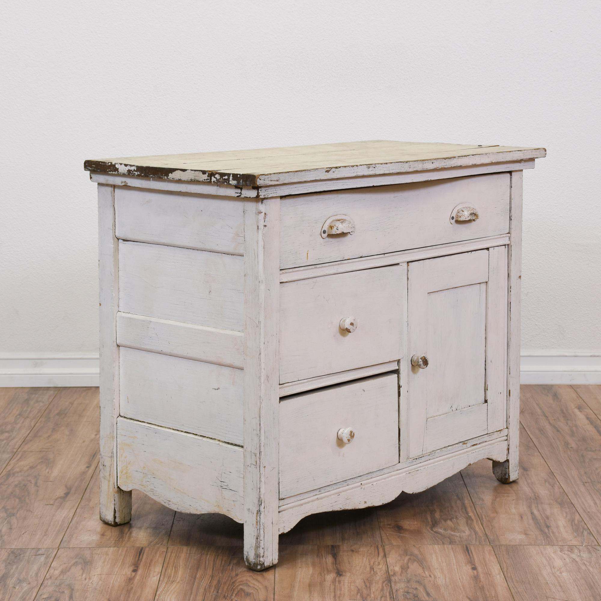 white shabby chic dresser cabinet